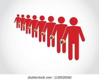 Cameroon Voter Queue