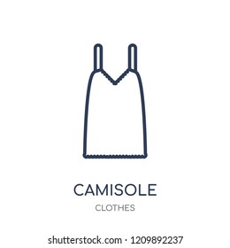 Camisole icon. Camisole linear symbol design from Clothes collection. Simple outline element vector illustration on white background.