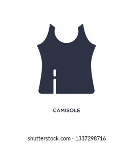 camisole isolated icon. Simple element illustration from clothes concept. camisole editable logo symbol design on white background. Can be use for web and mobile.