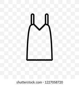 Camisole vector linear icon isolated on transparent background, Camisole transparency concept can be used for web and mobile
