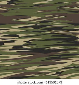 Camo, Camouflage pattern background seamless vector illustration. Military camo camouflage seamless pattern. Woodland style camo, camouflage pattern. Classic clothing style masking camo repeat print.
