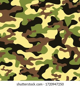 camo seamless pattern on textile. Stylish vector design for print. modern.