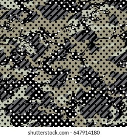 camoflage seamless pattern dot design gray color