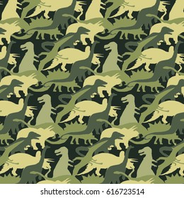 Camouflage army pattern dinosaur, tee shirt graphics, vectors, animal