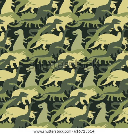Camouflage Army Pattern Dinosaur Tee Shirt Stock Vector Royalty Fascinating Army Pattern