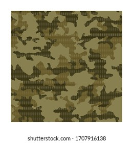 Camouflage background. Seamless pattern vector.Texture military camouflage. Abstract army and hunting masking ornament.