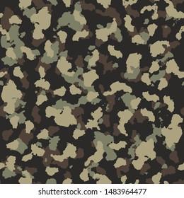 Camouflage Earth Foliage Design Seamless Pattern