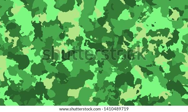 Camouflage Fashion Green Seamless Pattern Bright Stock