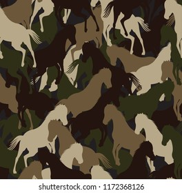 Camouflage horse Pattern
