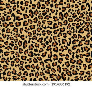 Camouflage leopard vector seamless pattern yellow background stylish print