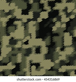 Camouflage military halftone pattern background. Vector illustration, EPS