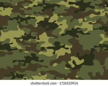 Camouflage military pattern. Print. Vector