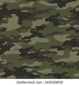 camouflage military pattern seamless vector print