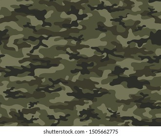 Camouflage military seamless vector pattern for clothing, fabric prints. modern.