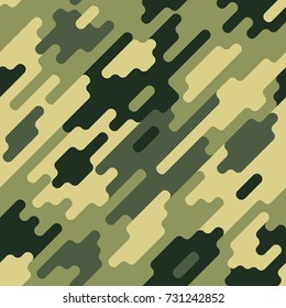 Camouflage modern colorful seamless pattern Green dazzle paint pattern. Vector geometrical texture Modern cute background.