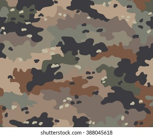 Camouflage (multicam) seamless pattern. Nine colors of the natural environment.