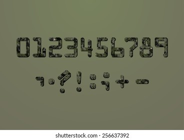 Camouflage numbers and punctuation marks