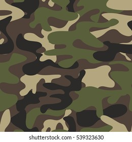 Camouflage pattern background seamless. Military camouflage seamless pattern. Woodland style camouflage pattern. Classic clothing style masking camo repeat print. camo camouflage seamless pattern