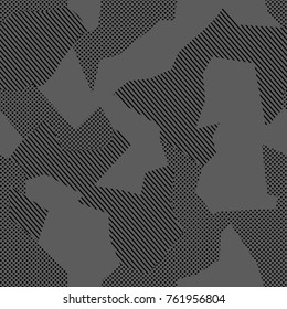 Camouflage pattern background seamless vector illustration. Military Fashionable, Abstract geometric seamless camouflage pattern.