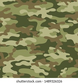 camouflage pattern green seamless vector, print pattern for clothes, fabric. modern.