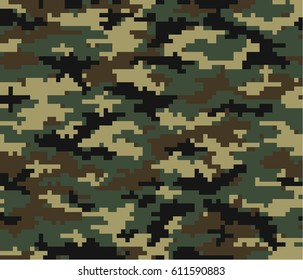 camouflage pattern and with seamless pattern