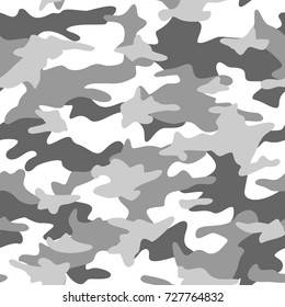 Camouflage pattern seamless background. Vector abstract fabric texture. Light green camo illustration.