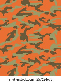 Camouflage pattern, seamless vector wallpaper