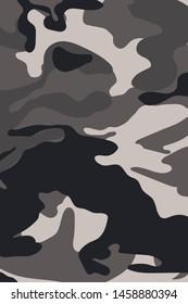 Camouflage Seamless Background, Vector Illustrator EPS 10.