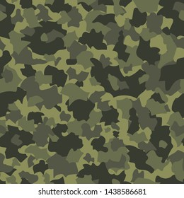 Camouflage seamless pattern. Abstract vector background.