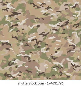 Camouflage seamless pattern. Fashionable military print.