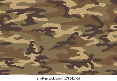 Camouflage seamless pattern. Four colors. Military print.