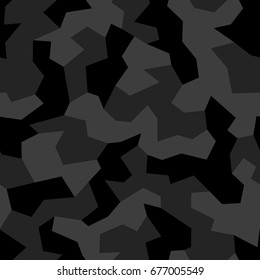 Camouflage. Seamless pattern with geometric military vector ornament.