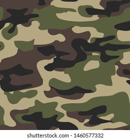 Camouflage seamless pattern military texture.Modern.Print on fabric on paper.Vector