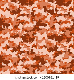 Camouflage Seamless Pattern - Orange camouflage repeating pattern design