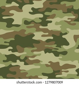 Camouflage Seamless Pattern Texture Abstract Modern Vector Military Camo Backgound Fabric Textile Print Template