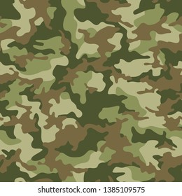 Camouflage seamless pattern texture. Abstract modern vector military camo backgound. Fabric textile print template. Vector illustration.