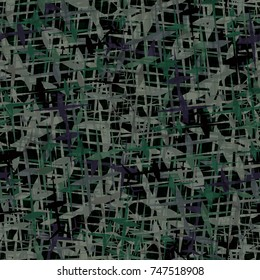 Camouflage seamless pattern, woodland military design, army uniform clothing, hunting and fishing wear style, soldier material, brutal fashion.