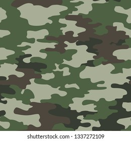 Camouflage seamless pattern.Militari.Green.Print on fabric on paper, abstract vector