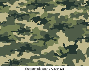 Camouflage seamless pattern.Military design. Print on fabric on clothing. Vector