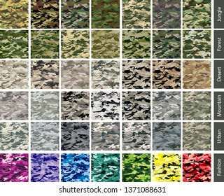 camouflage seamless tile color set