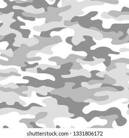 Camouflage texture seamless pattern. Abstract modern military camo ornament for army and hunting. Fabric and fashion endless print bakground. Vector illustration.