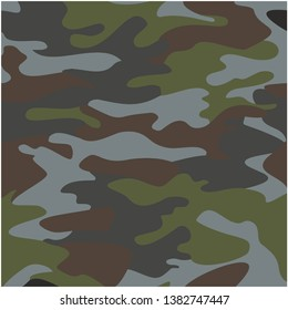 Camouflage Uniform Soldier Pattern Vector Illustration