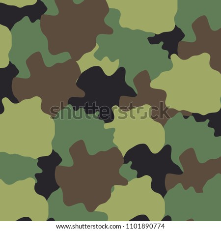 camouflage woodland pattern vector editable eps10, ready to print for your product, bandana, apparel, background, wallpaper, backdrop, accessories etc.