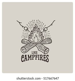 camp campfire logo