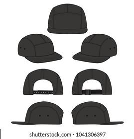 Cap hat images stock photos vectors shutterstock camp cap vector illustration flat sketches template maxwellsz
