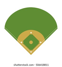 camp diamond baseball sport vector illustration design