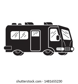 Camp motorhome icon. Simple illustration of camp motorhome vector icon for web design isolated on white background