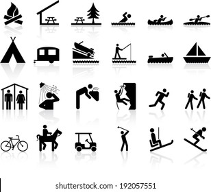Camp and Recreation Icon signs