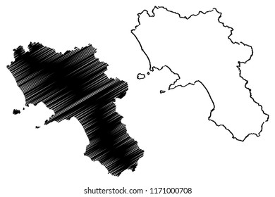 Campania (Autonomous region of Italy) map vector illustration, scribble sketch Campania map