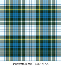 Campbell's dress tartan. Element for the seamless construction of a pattern for a traditional Scottish tartan of Campbell's clan, seamless pattern for fabric, kilts, skirts, plaids